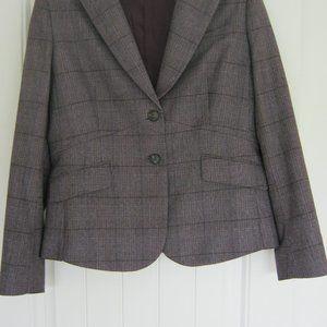 Brooks Brothers Wool Lavender Gray Check Blazer 12